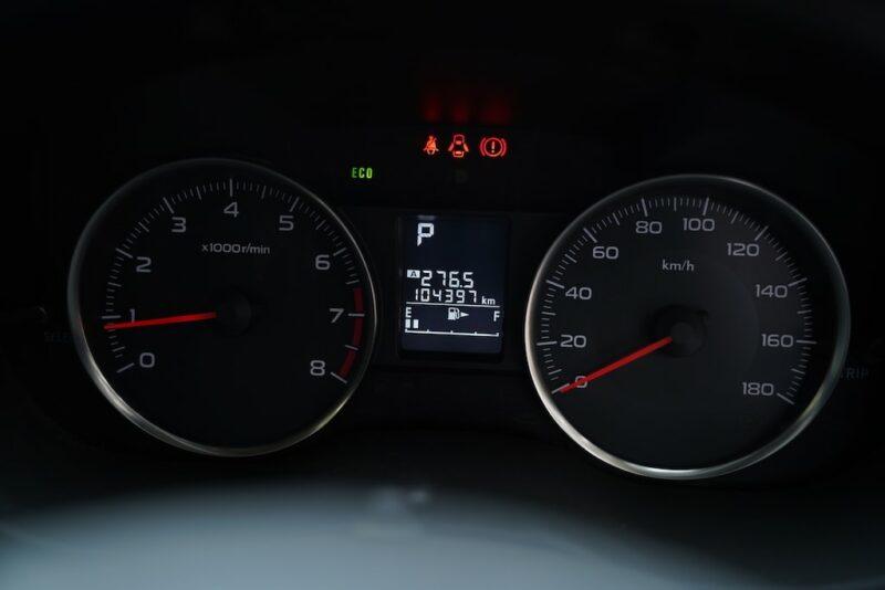 2012 Subaru XV Speedometer