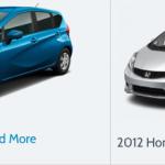 2012 Nissan Note vs 2012 Honda Fit Comparison
