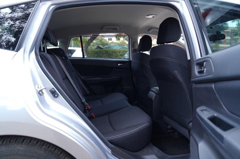 2013 Subaru Impreza Second Row