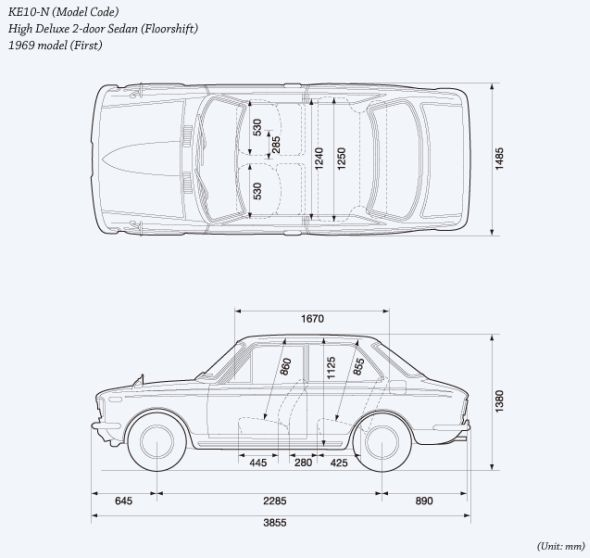 First Generation Toyota Corolla Design Specification
