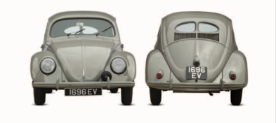 Volkswagen Beetle Front and Rear View