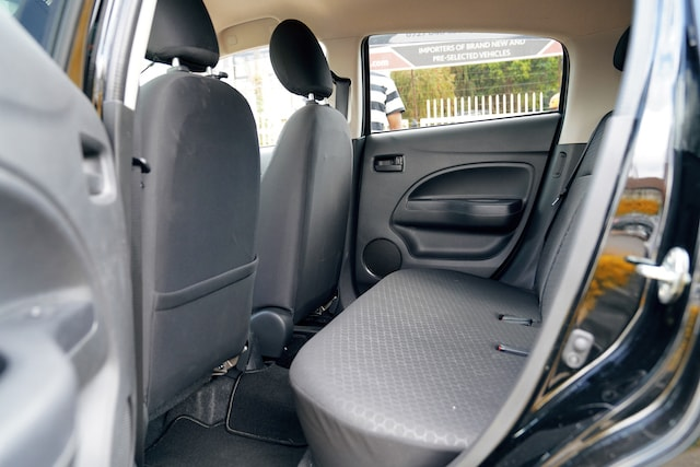 Mitsubishi Mirage rear seats