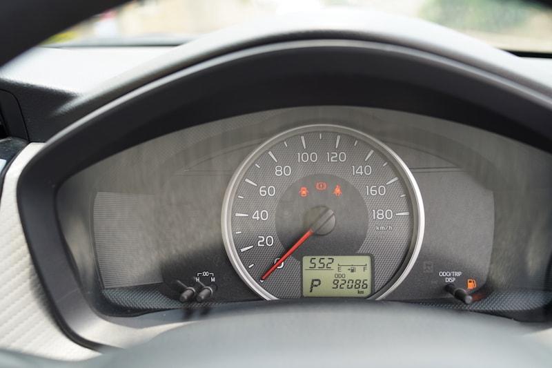 2013 Toyota Axio Speedometer